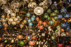 Laternen am Gran-Basar, Istanbul, die Türkei Stockfotografie