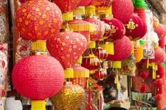 Laternen KUALA LUMPURS, MALAYSIA für das chinesische neue Jahr Stockbilder