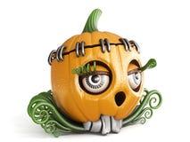 Laternendame 3D Halloween-Kürbis Jacks O Lizenzfreies Stockfoto
