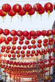 Laternendekoration des Chinesischen Neujahrsfests der Straße Lizenzfreies Stockfoto