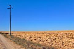 Laternenpfahl in der Landschaft Lizenzfreies Stockbild