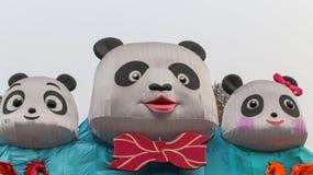 Laternenzeigung in Chengdu, Porzellan Stockbild