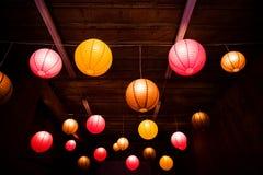 Laterns asiáticos do globo fotos de stock
