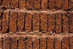 Laterytu ściana z cegieł tło Obraz Stock
