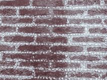 Laterytu kamienia żwiru i bloku junakowania wzór w rubieżnym fen Obrazy Stock
