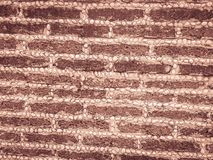Laterytu kamienia żwiru i bloku junakowania wzór w rubieżnym fen Fotografia Stock