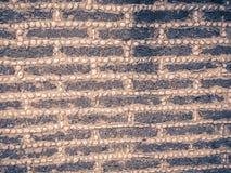 Laterytu kamienia żwiru i bloku junakowania wzór w rubieżnym fen Zdjęcia Stock