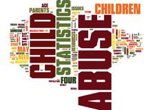 The Latest Child Abuse Statistics Text Background Word Cloud Concept Stock Photo