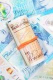 New British Money Roll of Bank Notes Stock Photography