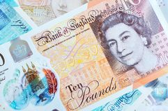 New UK Pound Notes Royalty Free Stock Photo