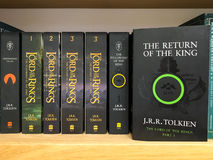 Latest English Fantasy Novels For Sale In Library Book Store Royalty Free Stock Photos
