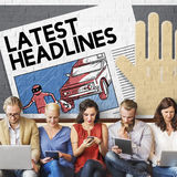 Latest Headlines Breaking Communication Inportant Concept Royalty Free Stock Photography