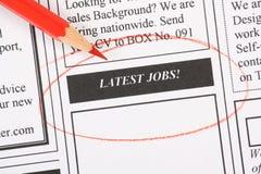 Latest Jobs Royalty Free Stock Photo