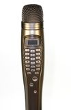 Latest Karaoke Microphone. With buttons for song selection stock photo