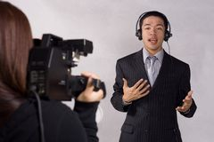 Latest News. Reporting the latest news today Royalty Free Stock Photo