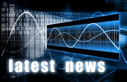 Latest News. Headlines Background Sign as an Art Stock Photo