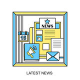 Latest news concept Royalty Free Stock Images
