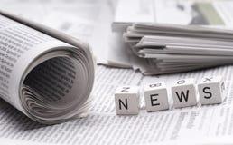 Latest news Stock Photo