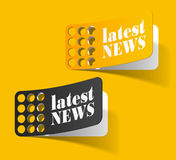 Latest news, realistic design elements Stock Images