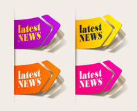Latest news, realistic design elements Royalty Free Stock Images