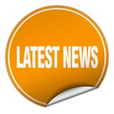 Latest news sticker. Latest news round sticker isolated on wite background. latest news Royalty Free Stock Image