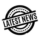 Latest News rubber stamp Royalty Free Stock Photo