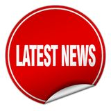 Latest news sticker. Latest news round sticker isolated on wite background. latest news Royalty Free Stock Photos