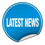 Latest news sticker. Latest news round sticker isolated on wite background. latest news Stock Photo