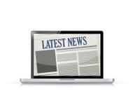 Latest News and technology illustration Stock Photo