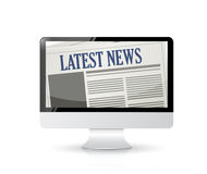 Latest News and technology illustration Royalty Free Stock Photo