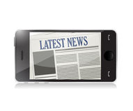 Latest News and technology illustration Royalty Free Stock Images