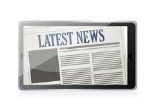 Latest News and technology illustration Stock Image