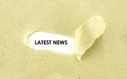 LATEST NEWS Royalty Free Stock Photography