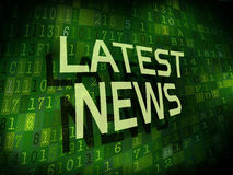 Latest news words isolated on digital background Stock Photography