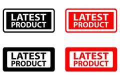 Latest product rubber stamp royalty free illustration