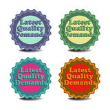 Latest quality demands badges Royalty Free Stock Photography
