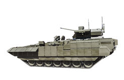 Latest Russian infantry fighting vehicle is isolated on a white Stock Photography