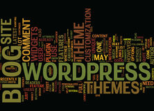 The Latest On Wordpress Themes Text Background Word Cloud Concept royalty free illustration