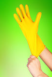 Latex Glove For Cleaning Royalty Free Stock Photography