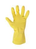 Latex glove for cleaning on hand Stock Photography