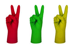 Latex glove Royalty Free Stock Photos