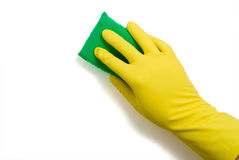 Latex Glove and Sponge Stock Image