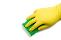 Latex Glove and Sponge Royalty Free Stock Image