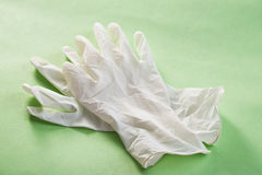 Latex gloves Stock Photo