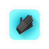 Latex-Tätowierungshandschuhe des Vektors schwarze Lizenzfreies Stockfoto