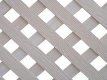 Lath de madeira branco cruzado Foto de Stock Royalty Free