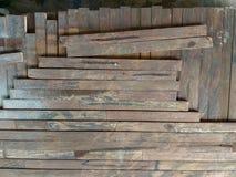 Lath drewniana tekstura Brown obrazy stock