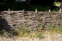 Lath fence wicker fence Stock Photo