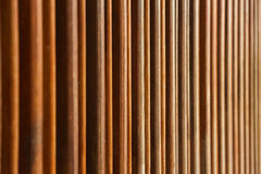 Lath grilla słońca cienia linii drewniany wzór Fotografia Royalty Free
