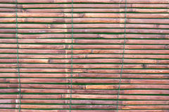 Lath made from bamboo. Stock Photo